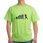 Baseball Evolution Green T-Shirt