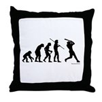 Baseball Evolution Throw Pillow