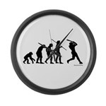 Baseball Evolution Large Wall Clock