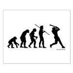 Baseball Evolution Small Poster