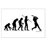 Baseball Evolution Large Poster