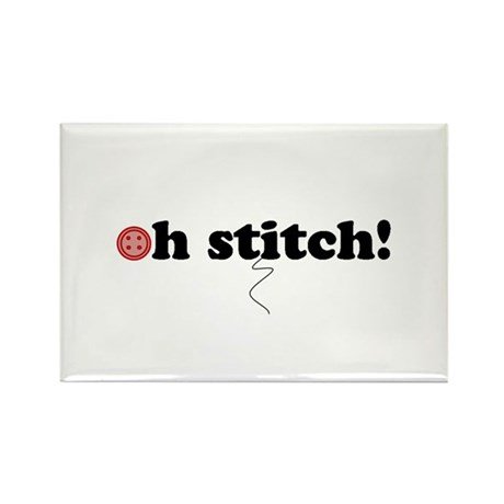 oh stitch! Rectangle Magnet