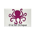 O is for Octopus Rectangle Magnet (100 pack)