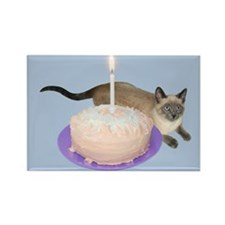Siamese Cat Cake Rectangle Magnet