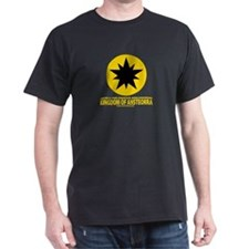 Ansteorra star with url Black T-Shirt