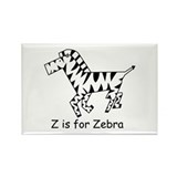 Z is for Zebra Rectangle Magnet (100 pack)