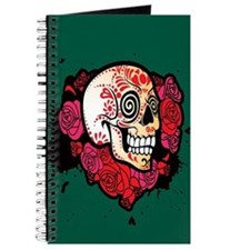 Rosey Sugar Skull Journal