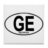 Georgia Euro Oval (plain) Tile Coaster