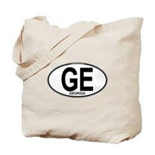 Georgia Euro Oval (plain) Tote Bag