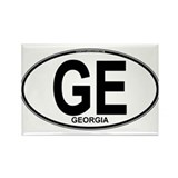 Georgia Euro Oval (plain) Rectangle Magnet
