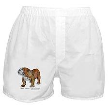 Bulldog's Life Motto Boxer Shorts