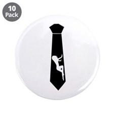 "Tie - Woman 3.5"" Button (10 pack)"