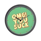 OMG You Suck Wall Clock