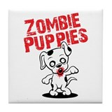Zombie Puppies Tile Coaster