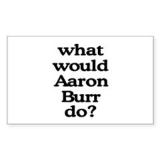 Aaron Burr Rectangle Sticker 10 pk)
