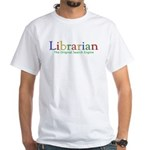 Librarian White T-Shirt
