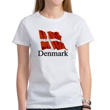 Waving Flag With Denmark Tee