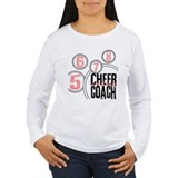 Cheer Coach in Circles Pink T-Shirt