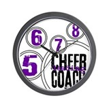 Cheer Coach in Circles Wall Clock