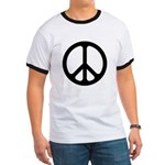 Black CND logo Ringer T