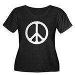 White CND logo Women's Plus Size Scoop Neck Dark T
