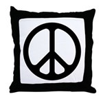 Black CND logo Throw Pillow