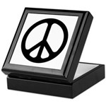 Black CND logo Keepsake Box