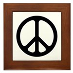 Black CND logo Framed Tile
