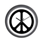 Black CND logo Wall Clock