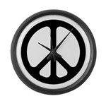 Black CND logo Large Wall Clock