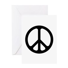 Black CND logo Greeting Card