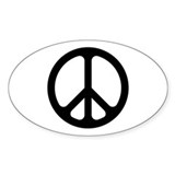 Black CND logo Oval Sticker (50 pk)