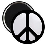 Black CND logo Magnet