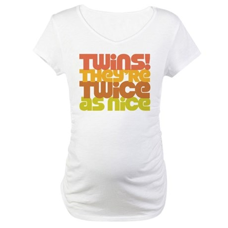 Twins Twice as Nice Maternity T-Shirt