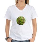 Baseball Melon Women's V-Neck T-Shirt