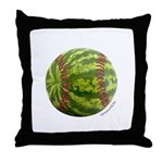 Baseball Melon Throw Pillow
