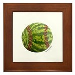 Baseball Melon Framed Tile