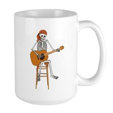 Folk Singer Skeleton Mug