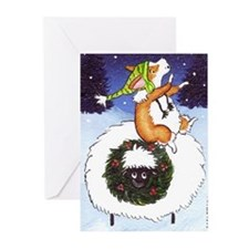 Pembroke Welsh Corgi Christmas Cards (Pack 6)