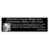 Election Fraud Blog Bumper Bumper Sticker