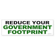 Reduce your government footprint Bumper Bumper Sticker