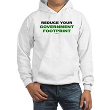 Reduce your government footprint Hoodie