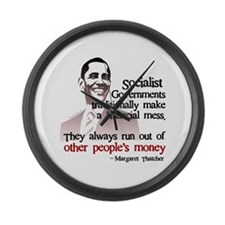 Funny Federal government tax Large Wall Clock