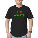 I Love Aglets Fitted T-Shirt (dark)