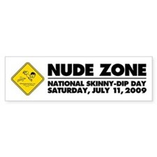 National Skinny-Dip Day Bumper Sticker (10 pk)