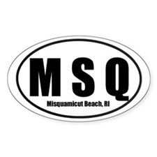 MSQ Misquamiut Beach, RI Euro Oval Decal
