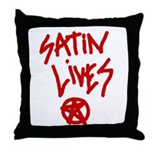 Satin Lives Throw Pillow