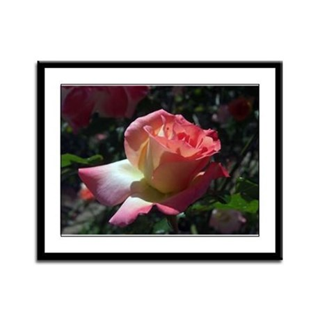 Dancing Rose Framed Panel Print