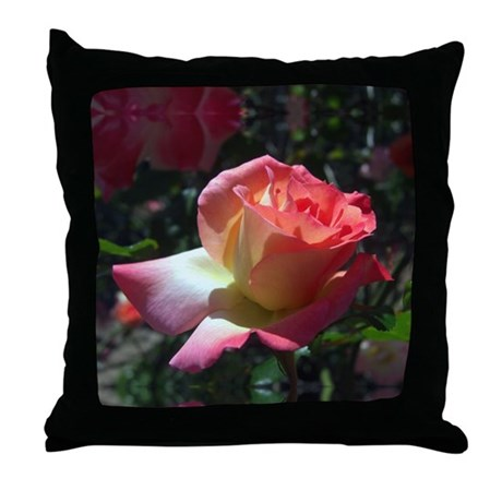 Dancing Rose Throw Pillow