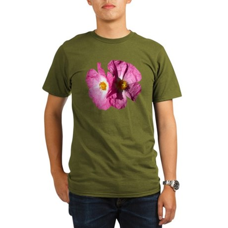 Two Pink Flowers Organic Men's T-Shirt (dark)